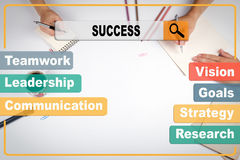 Success business Concept. The meeting at the white office table.  Royalty Free Stock Photography