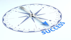 Success Business Concept - needle pointing the word success Royalty Free Stock Images