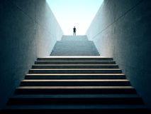 Success business concept. People climbed on top of the stairs Stock Photography