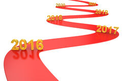 Success business concept 2016 year, 3D rendering. Success business concept 2016 year Stock Photo