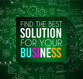 Success in Business conceptual background with a squared panel Royalty Free Stock Photography