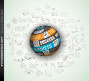 Success in Business conceptual background with a threedimentional sphere Royalty Free Stock Image