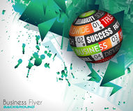Success in Business conceptual background with a threedimentional sphere Royalty Free Stock Photos