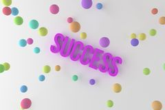 Success, business conceptual colorful 3D rendered words. Style, text, communication & artwork. Success, business conceptual colorful 3D rendered words vector illustration