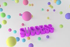 Success, business conceptual colorful 3D rendered words. Style, wallpaper, title & design. Success, business conceptual colorful 3D rendered words. Background royalty free illustration