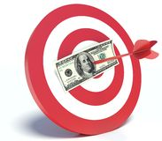 Success in Business, Dollar and Dart.  Stock Images