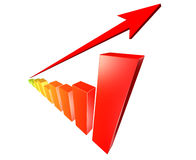 Success business graph. On white background Stock Image