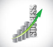 Success business graph illustration design Royalty Free Stock Image
