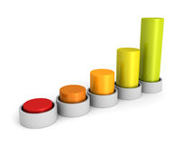Success business growing colorful bar chart graph Stock Image