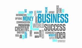 Success business idea marketing word cloud concept. Typography. Success business idea. Web marketing word cloud concept. Typography design text block Stock Photos