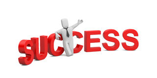 Success in business. Image contain clipping path Stock Photos
