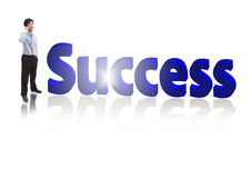 Success Business man Speaking mobile phone Royalty Free Stock Image