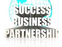 Success business partnership. Image with hi-res rendered artwork that could be used for any graphic design Stock Photography