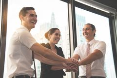 Success Business people join hands Royalty Free Stock Photo