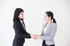 Success business people shake hands Stock Images