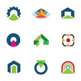 Into the success business point arrow building economic goal logos. Enjoy Royalty Free Stock Photos
