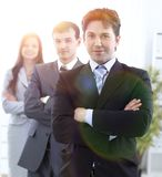 Businessman and successful business team Royalty Free Stock Photography