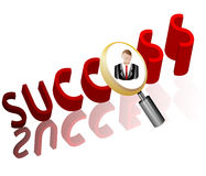 Success business search Employee Icon Stock Photography