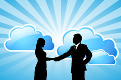 Success Business team with cloud computing technol Royalty Free Stock Images