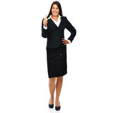 Success business woman. Business woman  showing thumbs up.  Isolated on a white background Stock Photo