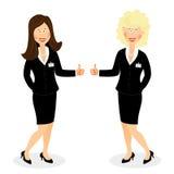 Success business woman shows ok sign Stock Photos