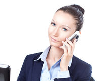 Success business woman talking on the phone Royalty Free Stock Photo