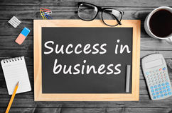 Success in business words Stock Photos