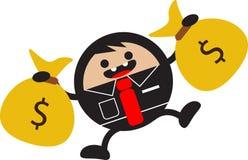 Success businessman. Illustration vector graphic cartoon character of success businessman earning money royalty free illustration