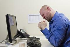 Success Businessman. A office worker / businessman expresses success stock photo