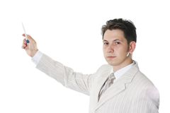 Success businessman. The successful businessman in a light suit Royalty Free Stock Photography