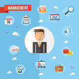 Success businessman flat concept illustration Royalty Free Stock Photos