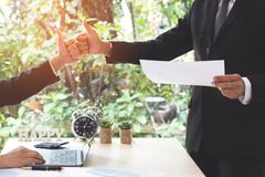 Success businessman partners making fist bump and thumbs up show royalty free stock photos