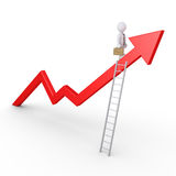 Success of businessman Stock Image