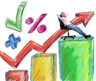 Success businesswoman Stock Photography