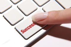 Success button Royalty Free Stock Photography