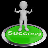 Success Button Shows Achievements Strategy And Determination Royalty Free Stock Photography
