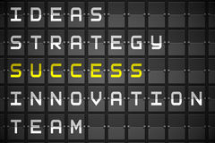 Success buzzwords on black mechanical board Royalty Free Stock Image