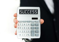 Success calculation Royalty Free Stock Photos