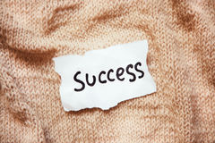 Success and career concept on white paper with vintage background Royalty Free Stock Images