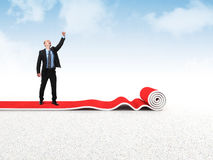 Success carpet Stock Photography