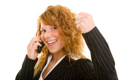 Success with cell phone Stock Images