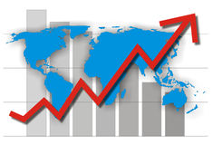 Success chart Royalty Free Stock Images