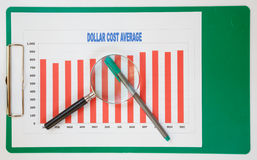 Success chart for business. Success chart and pen of business Royalty Free Stock Photo