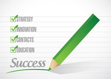 Success check mark illustration design Royalty Free Stock Image