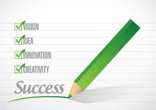 Success check mark illustration design Stock Images