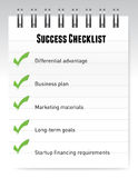 Success checklist notepad illustration design Stock Photos