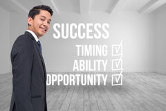 Success checklist written on room background Royalty Free Stock Image