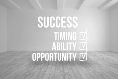 Success checklist written on room background Royalty Free Stock Photos