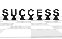 Success Chess word Black Royalty Free Stock Images
