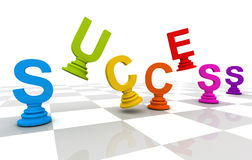 Success Chess word Colorful Stock Photo